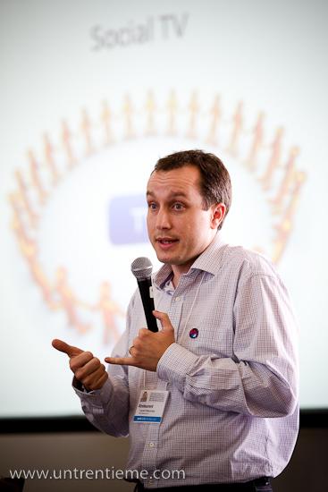 Laurent Maissonave, MediaCamp, UQAM, Montréal, Septembre 2010 (© Sébastien Lavallée, 2010)