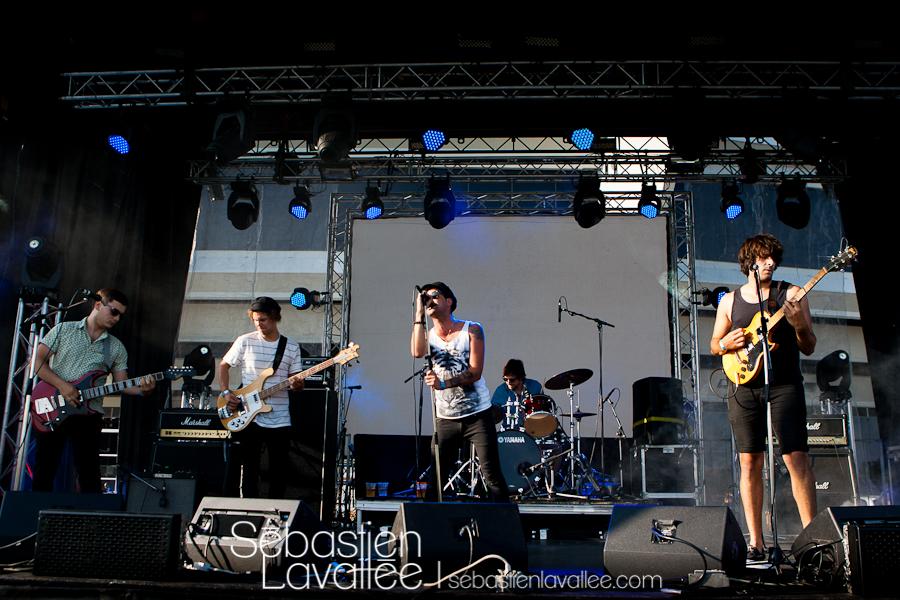MONTREAL, 24 août 2012 - Le Kid et les Marinellis au festival Expérience MTL.