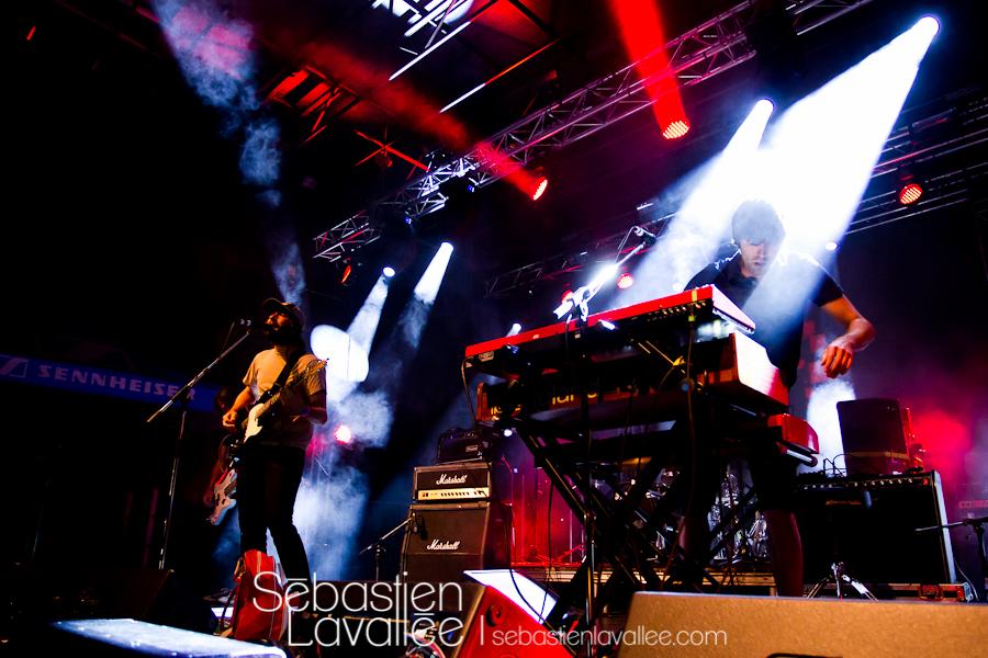 MONTREAL, 24 août 2012 - Malajube au festival Expérience MTL.