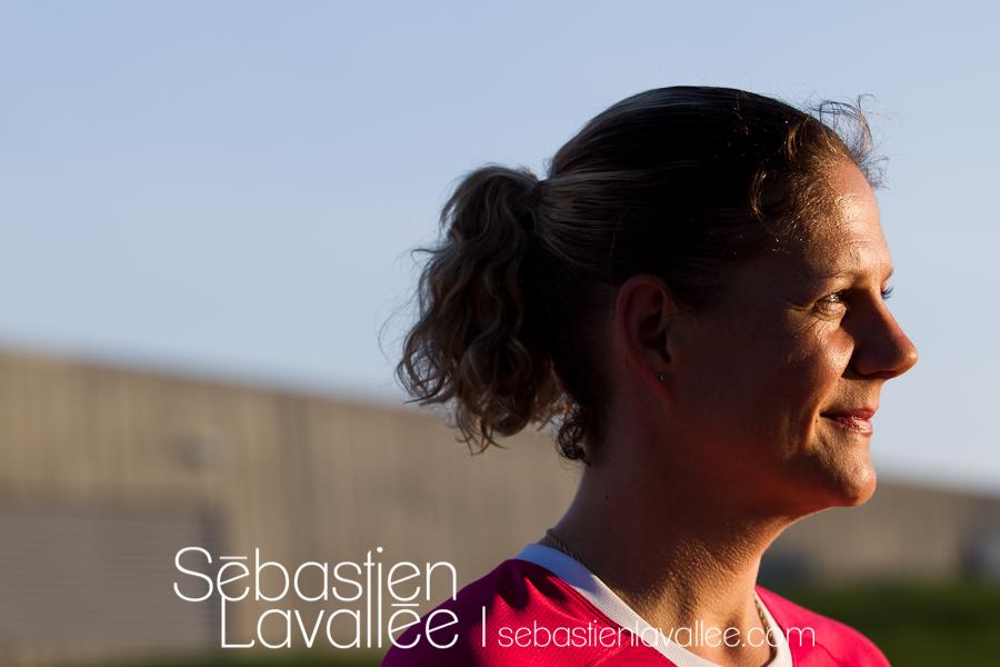 Karine va courir le demi-marathon avec l\'équipe d\'Entraide familiale de l\'Outaouais. (© Sébastien Lavallée)