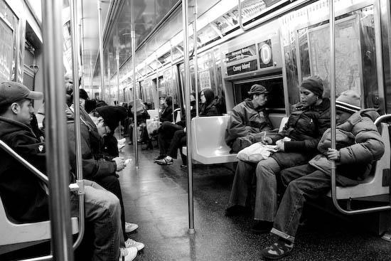 Métro newyorkais, New York, Janvier 2010