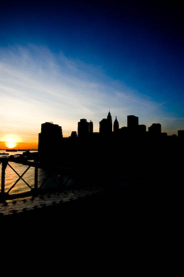Vue du pont de Brooklyn, New York, Janvier 2010