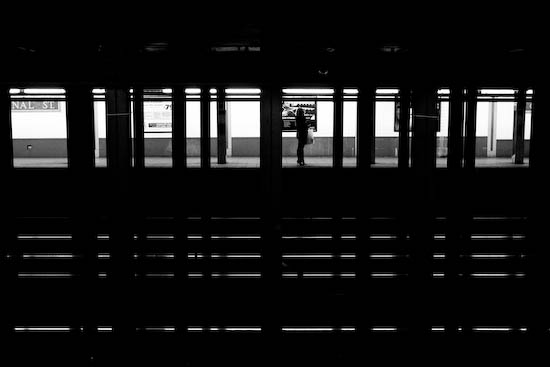 Station de métro, New York, Janvier 2010