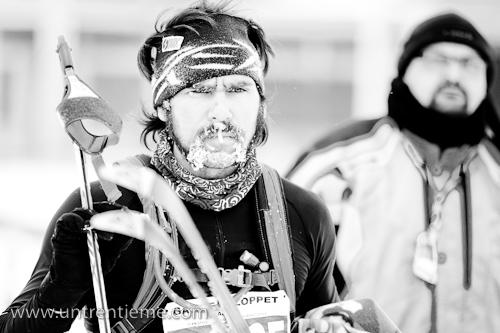 Un fondeur à la barbe couverte de glace, Gatineau Loppet, 19 février 2011 (© Sébastien Lavallée, 2011)