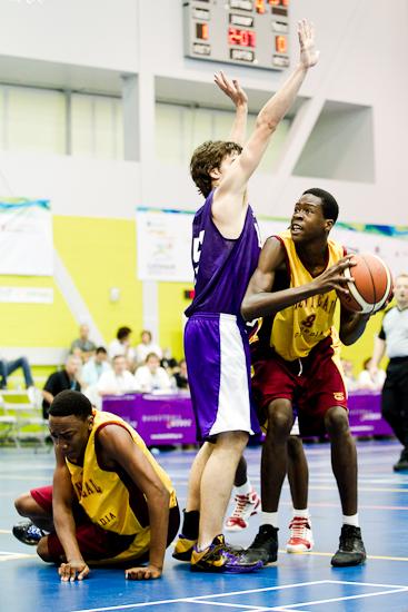 Finale de basketball masculin, Montréal vs Laval, Jeux du Québec 2010, Gatineau, Centre Sportif, Août 2010 (© Sébastien Lavallée - Infocale, 2010)