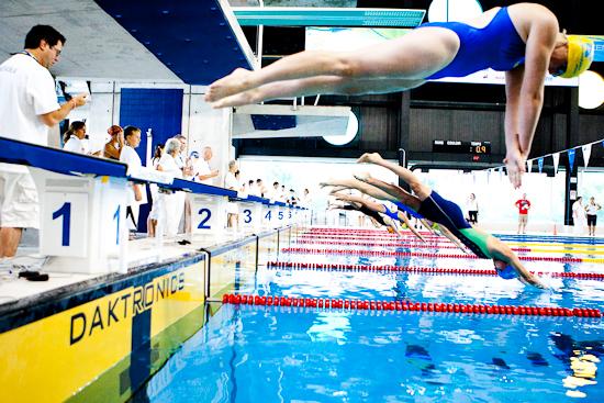 Natation, Jeux du Québec 2010, Centre sportif, Gatineau, Août 2010 (© Sébastien Lavallée - Infocale, 2010)