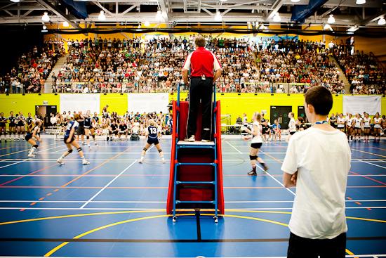 Finale de volleyball féminin opposant Montréal à l'Estrie, Jeux du Québec 2010, Centre sportif, Gatineau, Août 2010 (© Sébastien Lavallée - Infocale, 2010)