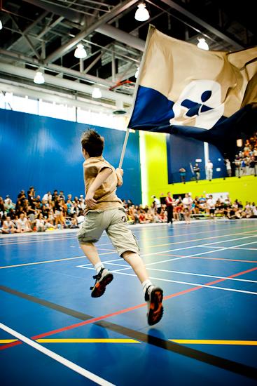 L'équipe de volleyball masculin de l'Outaouais, Jeux du Québec 2010, Centre sportif, Gatineau, Août 2010 (© Sébastien Lavallée - Infocale, 2010)