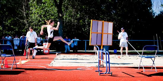 Saut en longueur, Jeux du Québec 2010, Gatineau, Juillet 2010 (© Sébastien Lavallée - Infocale, 2010)
