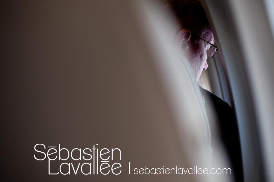 Dans l'avion. Convention PPOC, Halifax, 2012 (© Sebastien Lavallee)