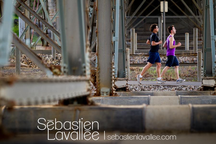 André et Samuel vont courir le marathon avec l'équipe d'Entraide familiale de l'Outaouais. (© Sébastien Lavallée)
