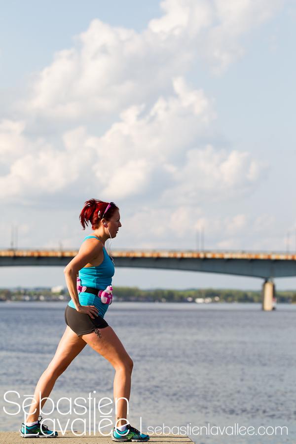 Diane va courir le demi-marathon avec l'équipe d'Entraide familiale de l'Outaouais. (© Sébastien Lavallée)