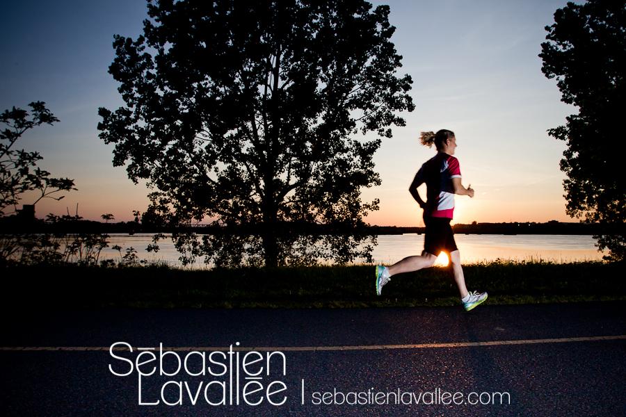Karine va courir le demi-marathon avec l'équipe d'Entraide familiale de l'Outaouais. (© Sébastien Lavallée)