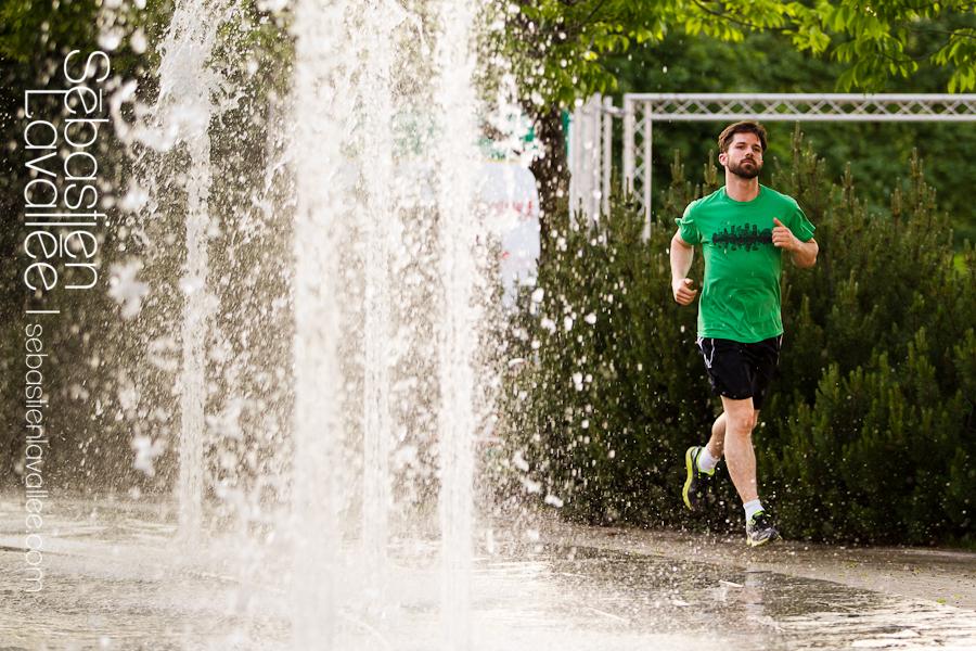 Steve va courir le marathon avec l'équipe d'Entraide familiale de l'Outaouais. (© Sébastien Lavallée)