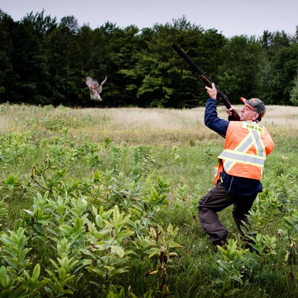 «Faire lever» l'oiseau, Plumes et Visou 2010, Danford Lake, Août 2010 (© Sébastien Lavallée, 2010)