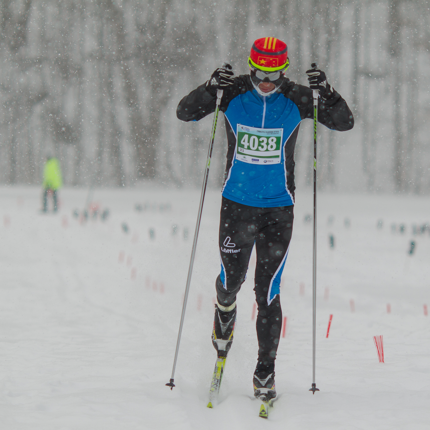 Jian He, premier au 27 km classique. Gatineau Loppet 2015 (© Sébastien Lavallée)