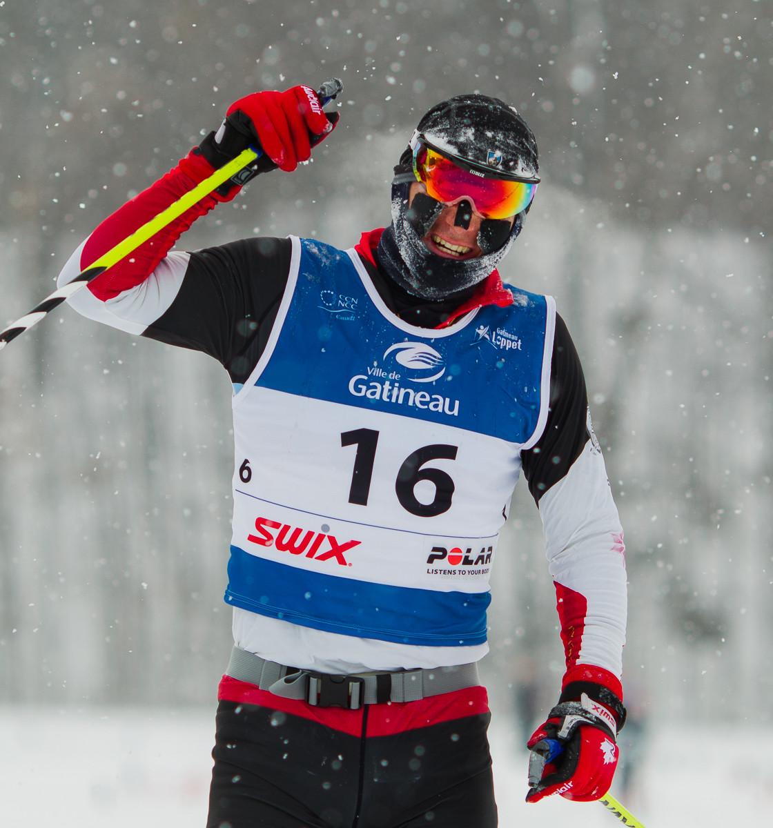 Ian Murray, premier au 51 km classique. Gatineau Loppet 2015 (© Sébastien Lavallée)