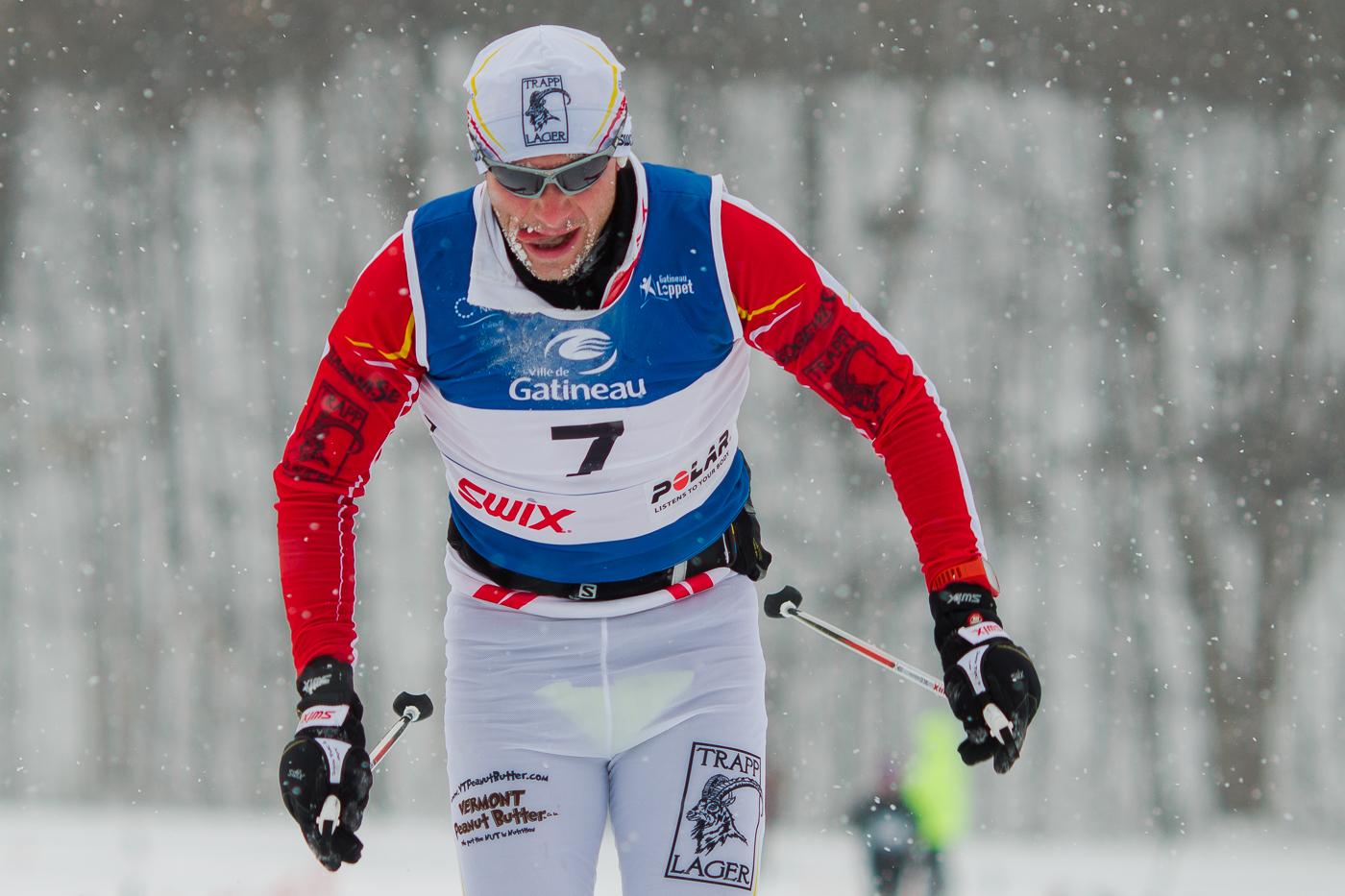 Christopher Ziegler, deuxième au 51 km classique. Gatineau Loppet 2015 (© Sébastien Lavallée)