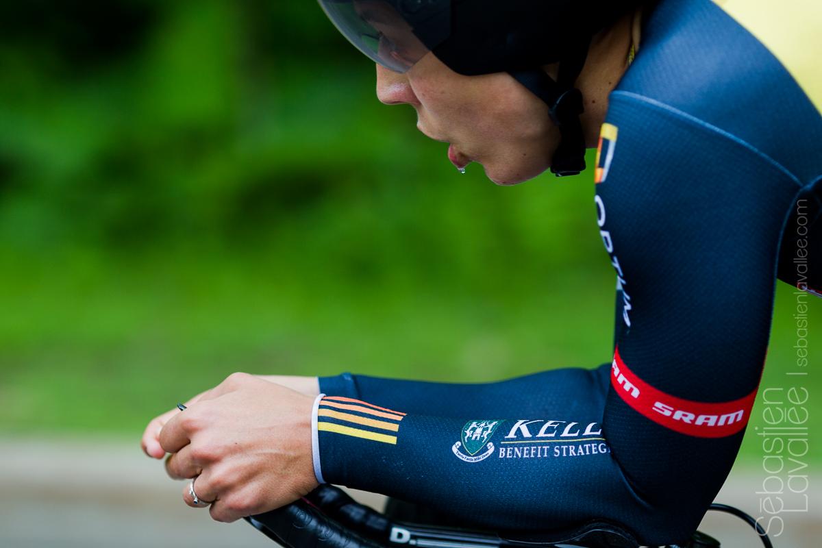 GATINEAU (5 juin 2015) - Grand prix cycliste de Gatineau, l'Américaine Brianna Walle lors du contre la montre (Chrono UCI).