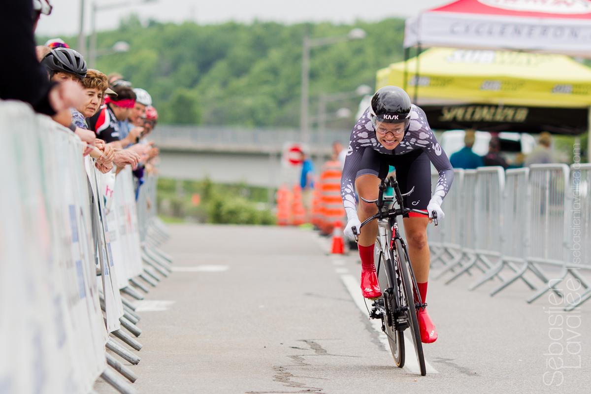 GATINEAU (5 juin 2015) - Grand prix cycliste de Gatineau, l'Américaine Tayler Wiles terminera au troisième rang au contre la montre (Chrono UCI) avec un temps de 0:15:44, 0:08 derrière la deuxième cycliste.
