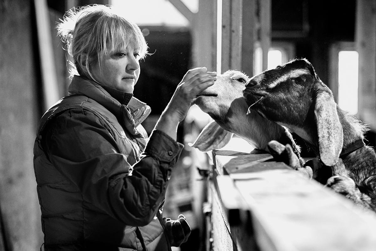 Amélie Blanchard - Ferme La Chèvre d'Oeuvre. Octobre 2015 (© Sébastien Lavallée)