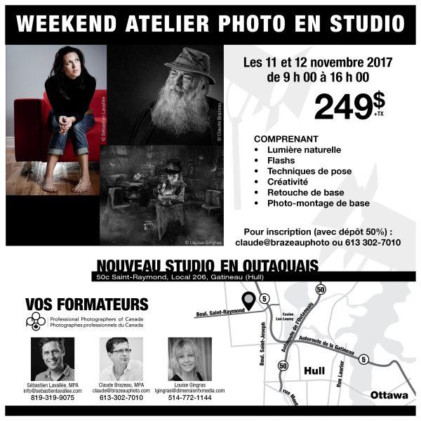 Formation : Portrait en studio. Claude Brazeau, Sébastien Lavallée et Louise Gingras.
