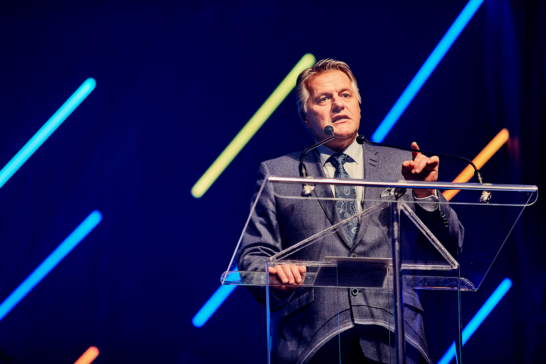 Laurent Lessard, ministre de l'Agriculture, des Pêcheries et de l'Alimentation, au congrès annuel de l'ADA 2017 au Château Frontenac, à Québec. (© Sébastien Lavallée)