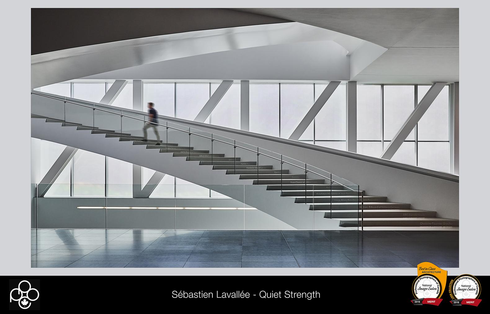 Le photographe Sébastien Lavallée remporte le prix de la meilleure photo dans la catégorie «Architecture» dans le cadre de la compétition annuel des PPOC (Photo : Sebastien Lavallee)