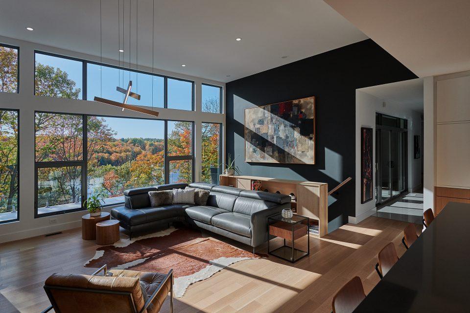 Maison privée pour A4 Architecture + Design. Photographe d'architecture. Ottawa, Gatineau, Montréal (Photo : Sebastien Lavallee)