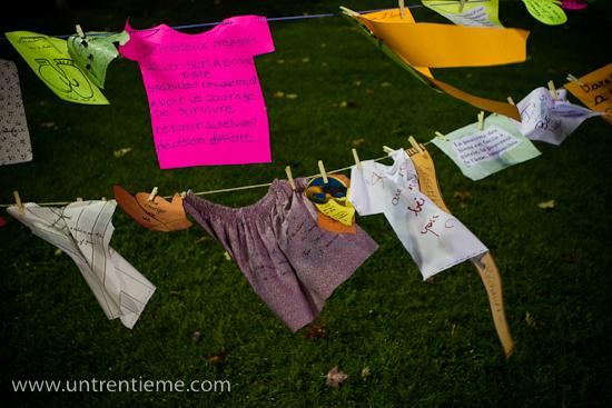 Faire «sécher les préjugés», Nuit des sans-abri au parc Sainte-Bernadette, Gatineau (Hull) (© Sébastien Lavallée, 2010)